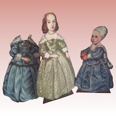 Girl Paper Dolls With Medieval Costumes