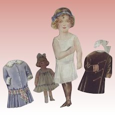 Girl Paper Doll With A back and a Front