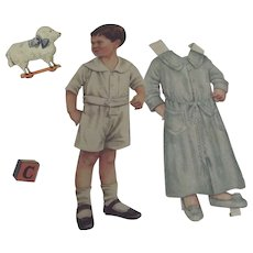 Boy Paper Doll With Extensive Wardrobe and Accessories