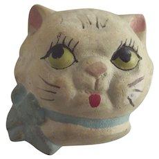 "Plaster ""Dolly Dingle"" Type Cat Head"
