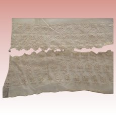 Two Pieces of Tambour Lace