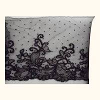Very Wide Black Tambour Lace