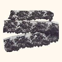 Three Pieces of Fine Black Lace