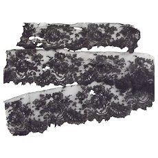 Three Pieces of Fine Black Lace