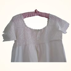 Cotton Nightgown With Embroidered Bodice