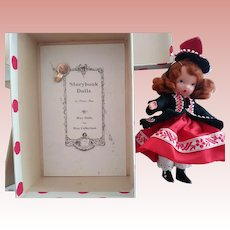 Nancy Ann Story Book Doll One,Two Button My Shoe In Box