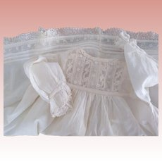 White Lacy Dress For Baby Doll