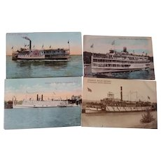 Postcards of Steam Ships