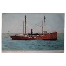 Boston Lightship #54 Circa 1910 Postcard