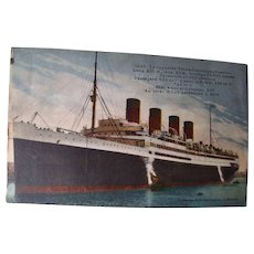 Postcard French Passenger Liner