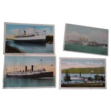 Postcards of Steamer Ships