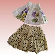 Two Vintage Doll Skirts