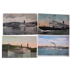 Postcards of Old Steam Ships