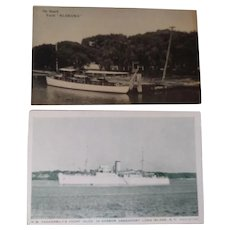 Two Postcards of Yatchs