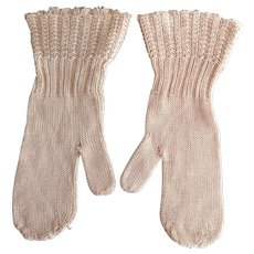 Early Silk Baby Mittens