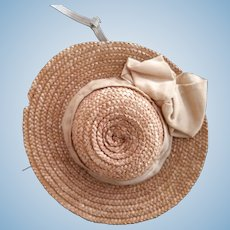 Early Straw Hat For Doll
