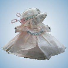 Toddler Doll Dress and Bonnet