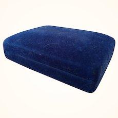 Blue Velvet Necklace Box