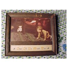 Early Boy and Teddy Bear Print