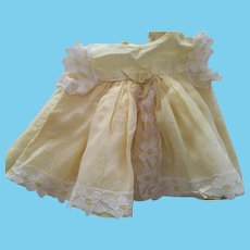 Little Yellow Dress For 1950's or 1960's doll