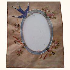 Early Cloth Embroidered Picture Mat