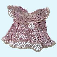 Lavender Crocheted Doll Dress