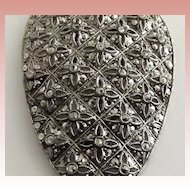 Large and Beautiful Marcasite Dress Clip