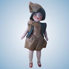 Tiny All Original Bisque Doll