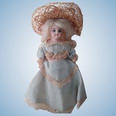 Little Shoulder Head Doll In Blue Dress