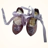 Artist Made Lavender Doll Shoes