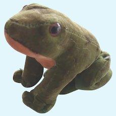 Early Steiff Velvet Frog