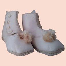 Baby Shoe With Pom Poms