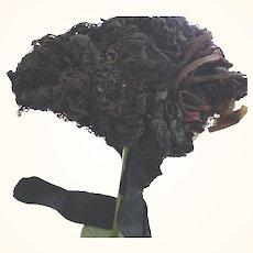 Small Civil War Mourning Bonnet