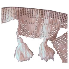 Crocheted Trim With Tassels and Butterflies