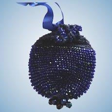 Colbalt BlueBeaded Doll Purse