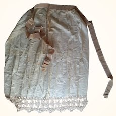 Early Apron With Silk Trim and Ribbon