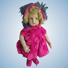 Lenci Doll In Fuchsia