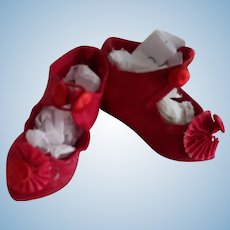 Small Red Doll Shoes