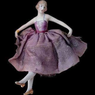 Pincushion Doll With Legs On Cushion
