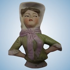 Unusual Bisque Pincushion Doll