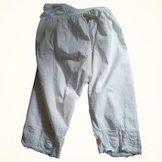 Lady's Pantaloons With Split Crotch
