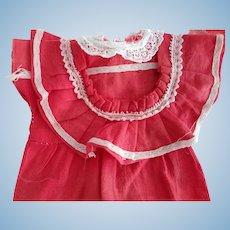 Little Red Factory Doll Dress
