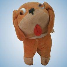 Glass Eyed Googly Dog  Doll Size