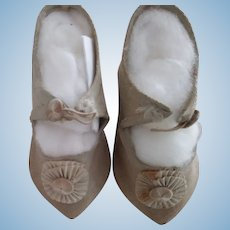Cloth Doll Shoes With Rosettes