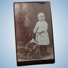 Little Girl With Doll and Pram CDV
