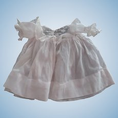White Doll Dress With Lace TRim