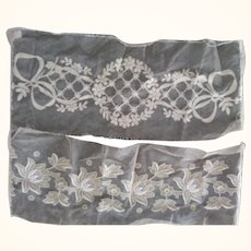 Two Exquisite Pieces of Tambour Lace