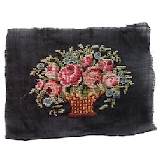 Small Pettipoint Basket of Flowers