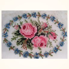 Small Pettipoint Round of Flowers