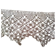 Silk Hand Made Lace In Two Pieces